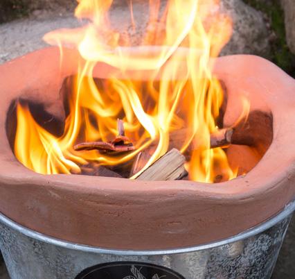 WOK mit Feuer